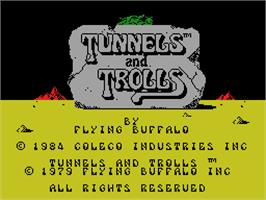 In game image of Tunnels & Trolls: Demo on the Coleco Vision.