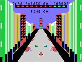 In game image of Turbo on the Coleco Vision.