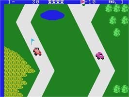In game image of Up'n Down on the Coleco Vision.