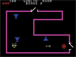In game image of Venture on the Coleco Vision.