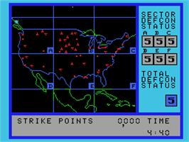 In game image of War Games on the Coleco Vision.