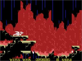 In game image of Wing War on the Coleco Vision.