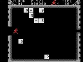 In game image of Wizard of Id's Wizmath on the Coleco Vision.