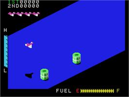 In game image of Zaxxon on the Coleco Vision.