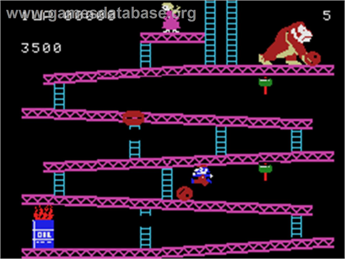 Donkey Kong - Coleco Vision - Artwork - In Game