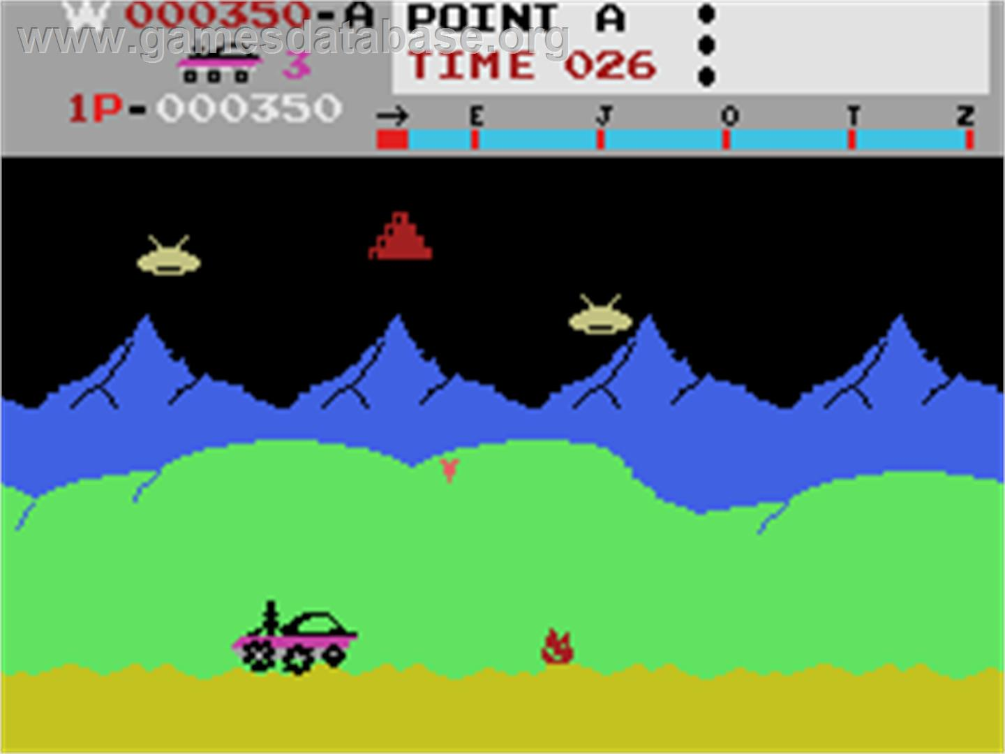 Moon Patrol - Coleco Vision - Artwork - In Game
