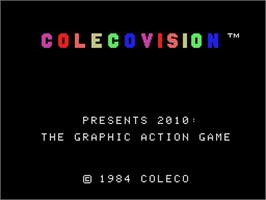 Title screen of 2010: The Graphic Action Game on the Coleco Vision.
