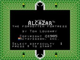 Title screen of Alcazar: The Forgotten Fortress on the Coleco Vision.