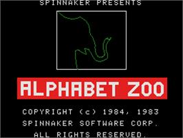 Title screen of Alphabet Zoo on the Coleco Vision.