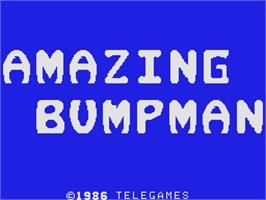 Title screen of Amazing Bumpman on the Coleco Vision.