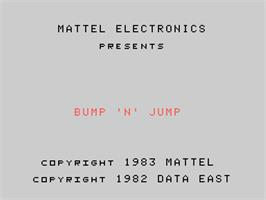 Title screen of Bump 'n' Jump on the Coleco Vision.
