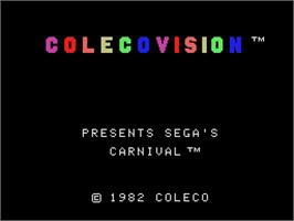 Title screen of Carnival on the Coleco Vision.