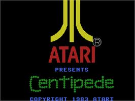 Title screen of Centipede on the Coleco Vision.