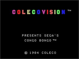Title screen of Congo Bongo on the Coleco Vision.