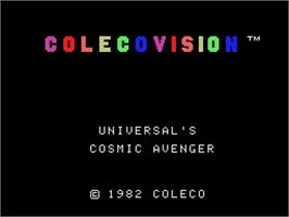 Title screen of Cosmic Avenger on the Coleco Vision.