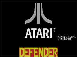 Title screen of Defender on the Coleco Vision.