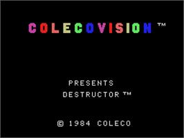 Title screen of Destructor on the Coleco Vision.