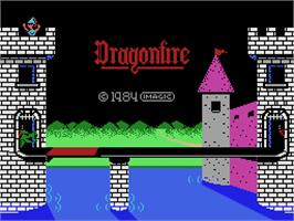 Title screen of Dragon Fire on the Coleco Vision.