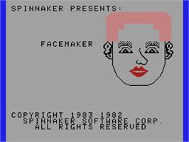 Title screen of FaceMaker on the Coleco Vision.