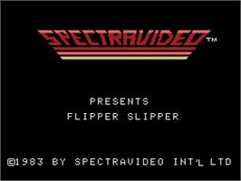 Title screen of Flipper Slipper on the Coleco Vision.