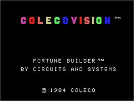 Title screen of Fortune Builder on the Coleco Vision.