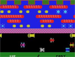 Title screen of Frogger on the Coleco Vision.