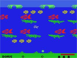 Title screen of Frogger 2: Three Deep on the Coleco Vision.