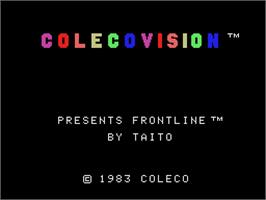 Title screen of Front Line on the Coleco Vision.