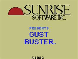 Title screen of Gust Buster on the Coleco Vision.