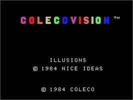 Title screen of Illusions on the Coleco Vision.