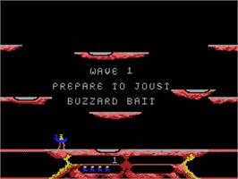 Title screen of Joust on the Coleco Vision.