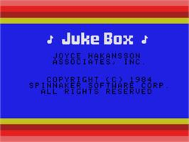 Title screen of Juke Box on the Coleco Vision.
