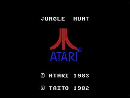 Title screen of Jungle Hunt on the Coleco Vision.