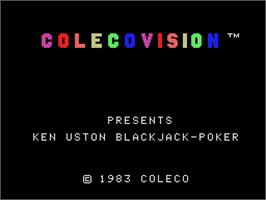 Title screen of Ken Uston's BlackJack & Poker on the Coleco Vision.