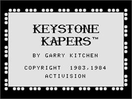Title screen of Keystone Kapers on the Coleco Vision.