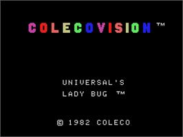 Title screen of Lady Bug on the Coleco Vision.
