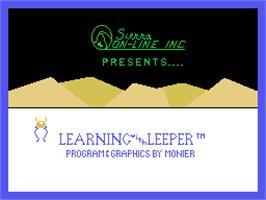 Title screen of Learning with Leeper on the Coleco Vision.