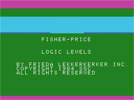 Title screen of Logic Levels on the Coleco Vision.