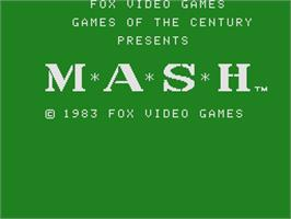 Title screen of M*A*S*H on the Coleco Vision.