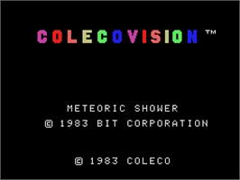 Title screen of Meteoric Shower on the Coleco Vision.