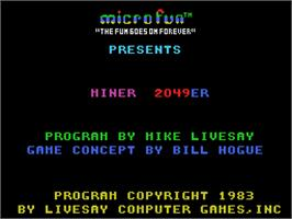 Title screen of Miner 2049er on the Coleco Vision.