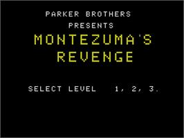 Title screen of Montezuma's Revenge on the Coleco Vision.