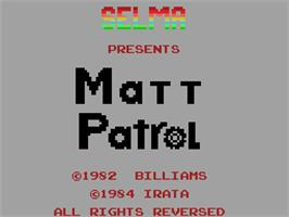 Title screen of Moon Patrol on the Coleco Vision.