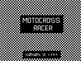 Title screen of Motocross Racer on the Coleco Vision.