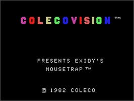 Title screen of Mouse Trap on the Coleco Vision.