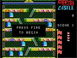 Title screen of Mr. Do's Castle on the Coleco Vision.