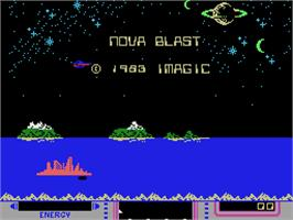 Title screen of Nova Blast on the Coleco Vision.