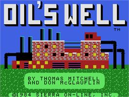 Title screen of Oil's Well on the Coleco Vision.