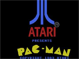 Title screen of Pac-Man on the Coleco Vision.