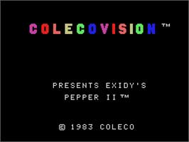 Title screen of Pepper II on the Coleco Vision.